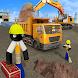 棒人間 シティ 建設 掘削機
