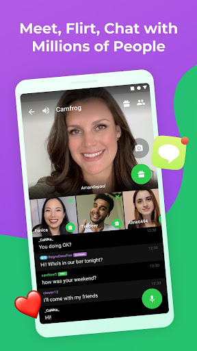 Camfrog: Flirt & Group Video Chat with Strangers Apkfinish screenshots 2