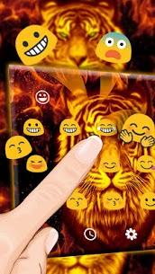 Flaming Tiger Keyboard Theme 1.0 Mod APK [Unlocked] 2