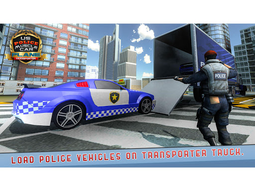 US Police Muscle Car Cargo Plane Flight Simulator 4.7 screenshots 11