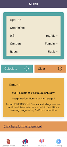 eGFR Calculators Pro: Renal or Kidney Function  screenshots 2