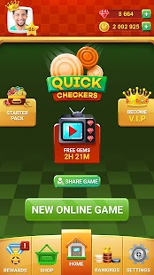 Dame Online - Quick Checkers Screenshot