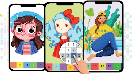 Pixel Art Color by number - Coloring Book Games 2.5 screenshots 7