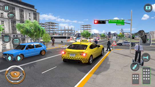 City Taxi Driving simulator: PVP Cab Games 2020 10
