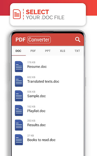 PDF Converter (doc ppt xls txt word png jpg wps) 207 Screenshots 1