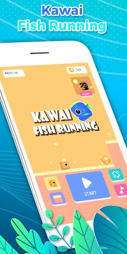 Kawai Fish Running: Casual Flying Fish Game 2021 Latest screenshots 1