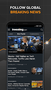 Download investing com App for android, iphone 3