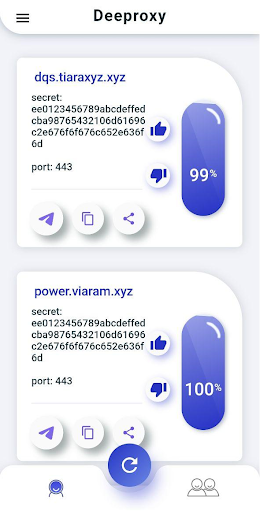 DeeProxy: Free Proxies for Telegram apktram screenshots 2