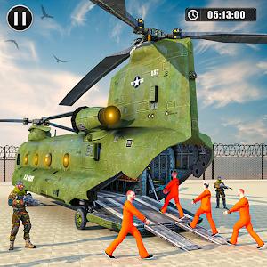 Army Prisoner Transport: Truck &amp Plane Crime Games