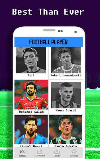 Football Player Coloring By Number - Pixel apkdebit screenshots 3