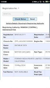 Vehicle registration details 5.9.3