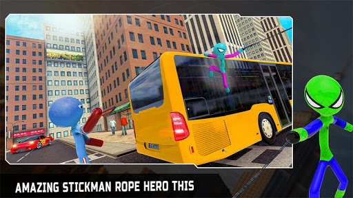 Flying Stickman Rope Hero: Flying Hero: Crime City  screenshots 12
