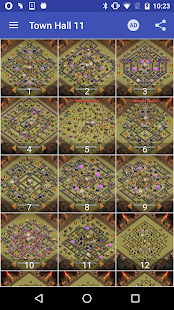 War layouts for Clash of Clans 1.4.1 screenshots 4
