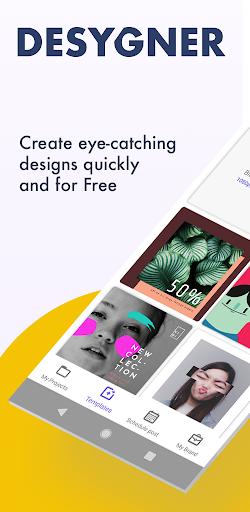 Desygner: Free Graphic Design Maker & Editor android2mod screenshots 1