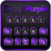 Black Purple Cool Keyboard