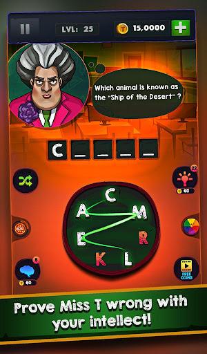 Scary Teacher : Addictive Word Game 2.1 Screenshots 13
