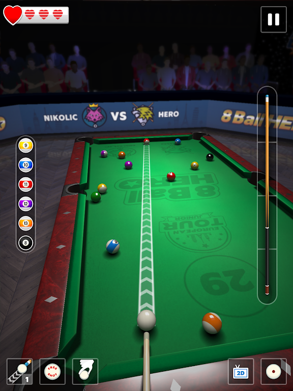 8 Ball Hero - Pool Billiards Puzzle Game  poster 6