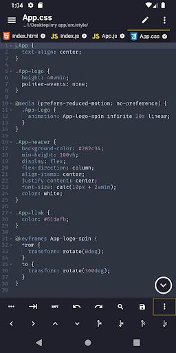 Acode - powerful code editor screen 0