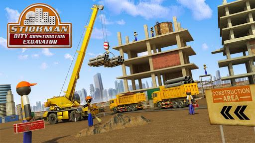 Stickman City Construction Excavator 1.5 screenshots 5