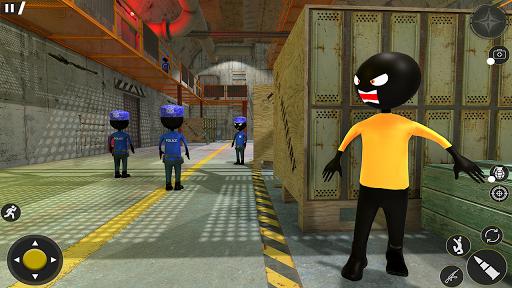 monster stickman jail escape: stickman prison game screenshot 1