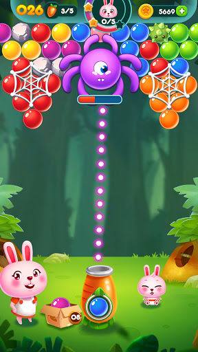 Bubble Bunny: Animal Forest Shooter apkpoly screenshots 7
