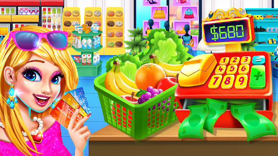 Grocery Store Girl in the USA – Shopping Games 1.3 Android Mod + APK + Data 1