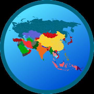 Screenshot 1 de Mapa Azji Free para android