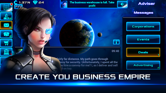 Idle Space Business Tycoon MOD (Unlimited Money) 1