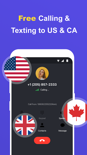 Free Calling App, Text and Phone Call for Free android2mod screenshots 1