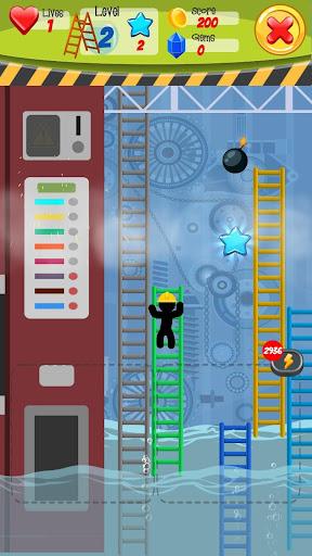 Télécharger Ladder man: L'homme à l'échelle brisée APK MOD (Astuce) screenshots 2