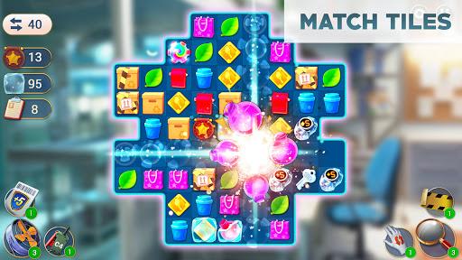 Crime Mysteriesu2122: Find objects & match 3 puzzle Apkfinish screenshots 9