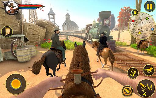 Cowboy Horse Riding Simulation : Gun of wild west screenshots 1