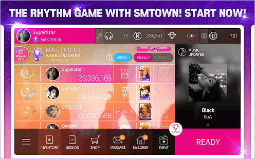 SuperStar SMTOWN Screenshot