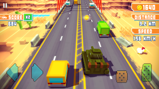 Blocky Highway: Traffic Racing  screenshots 7