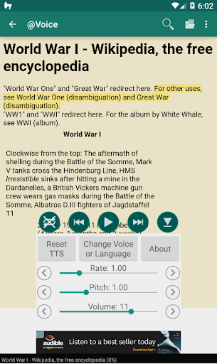 @Voice Aloud Reader (TTS Reader) 22.7.4 Screenshots 2