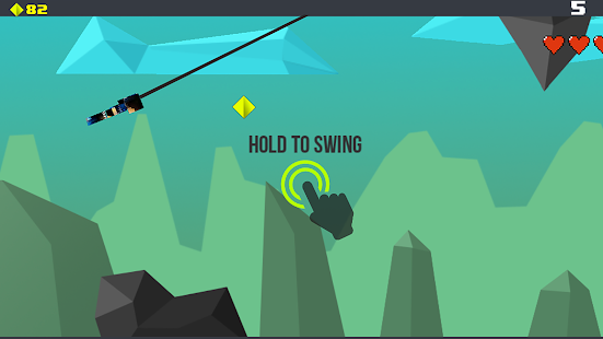 Pixel Rope - Endless Rope Swing Hook Screenshot