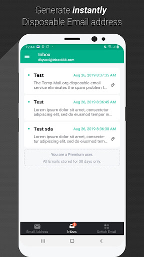 Temp Mail - Free Instant Temporary Email Address 2.41 Screenshots 2