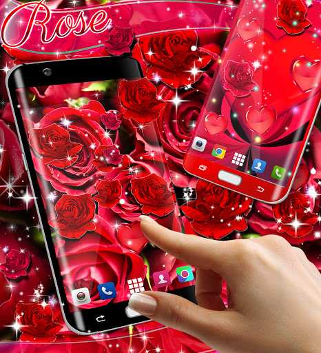 Red rose live wallpaper apktram screenshots 3