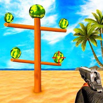 Captura 1 de Sandía Shooter Juego - Fruta del tiroteo para android