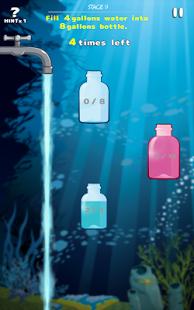 WaterCapacity Brain Puzzle