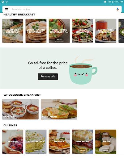 Foto do Breakfast Recipes App