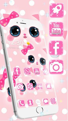 Pink kawaii Princess Kitty Theme  screenshots 8