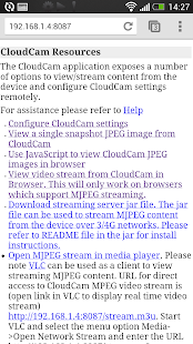Cloud Cam Screenshot