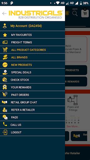 industricals retailers app screenshot 2
