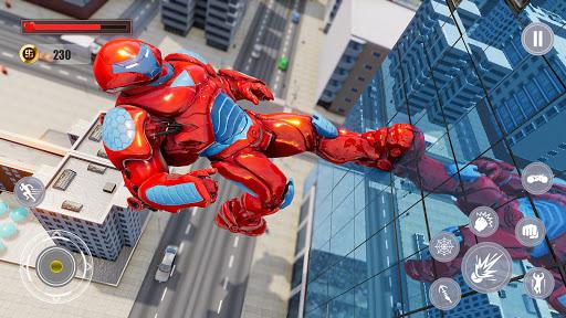 Flying Police Monster Robot Rope Hero: Crime City  screenshots 11