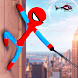 Grand Stickman Rope Hero Crime City: Stickman Game