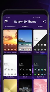 Galaxy S9 purple Theme 1.4.6 Mod + Data for Android 3