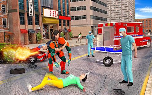 US Light Robot  Speed Hero :City Rescue Mission screenshots 13