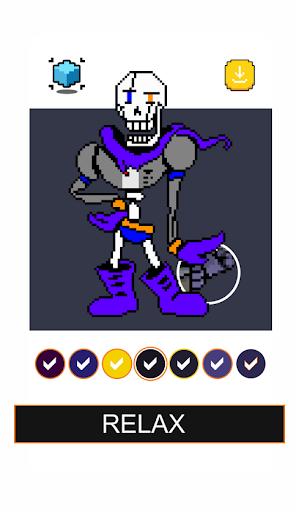 Papyrus Undertale Pixel Art Games Color By Number  screenshots 4