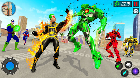 Robot VS Superhero Fighting Game
